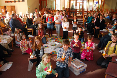 Christingle service at Putnoe Church