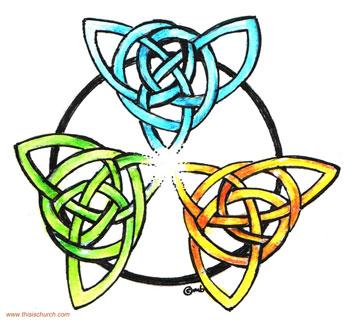 Triquetra symbol of Trinity