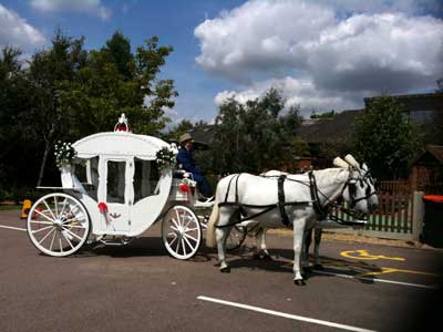 Wedding Carriage at St Mark's